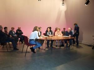Inma Serrano durante la entrevista grabada en el Taller de Imagen de la UA