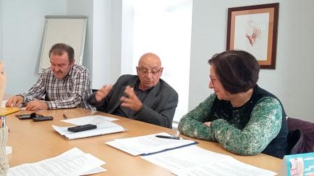José María Perea junto a Pepe López y Lola Mollá durante la entrevista