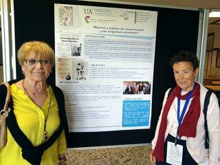 María Luisa Mataix y Mari Carmen Molina presentaron el Poster de MAYMECO en Santiago de Compostela